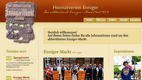 Screenshot Heimatverein Enniger