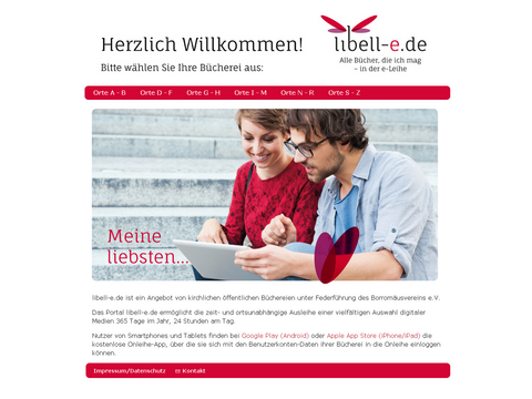 Screenshot Libell-e Onlinebücherei